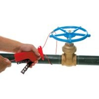 All Purpose Cable Lockout with Vinyl Coated Metal Cable - 2.44 m